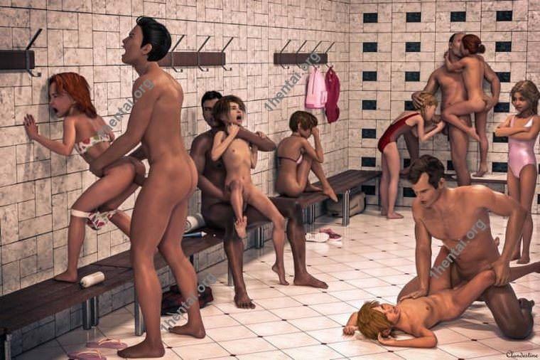 秘密の3Dグループ変態セックス写真ロリとショタ