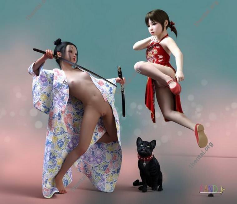 ランディによるアジアの3Dロリコン写真