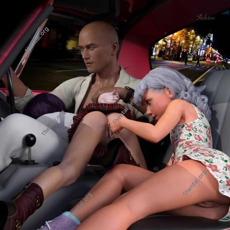 スケルトンによる10代の売春婦の3Dロリコン写真