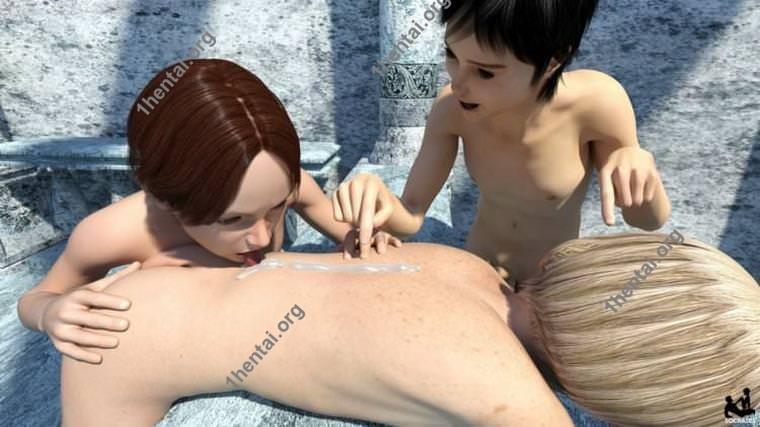 ソクラテスによる3Dショタグループセックス画像