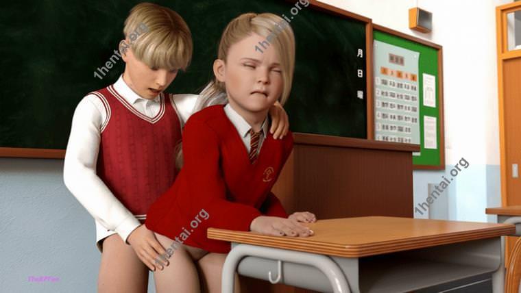 エッチなロリシットアートの娘と息子のセックスストーリー3DショタロリコレクションVol。 3
