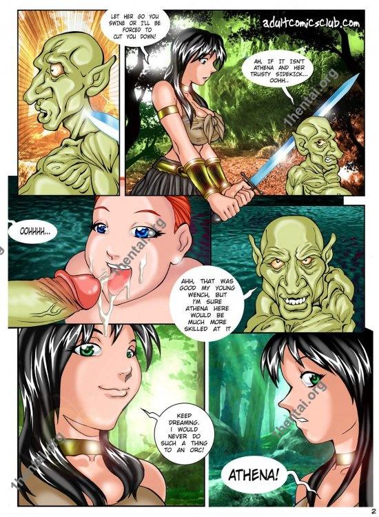 Athena Warrior Princess (Xena) - Melkor Mancin - Color comic for adults