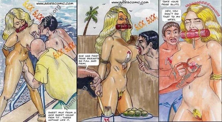 Bikini by Aries (En, BDSM comics free)
