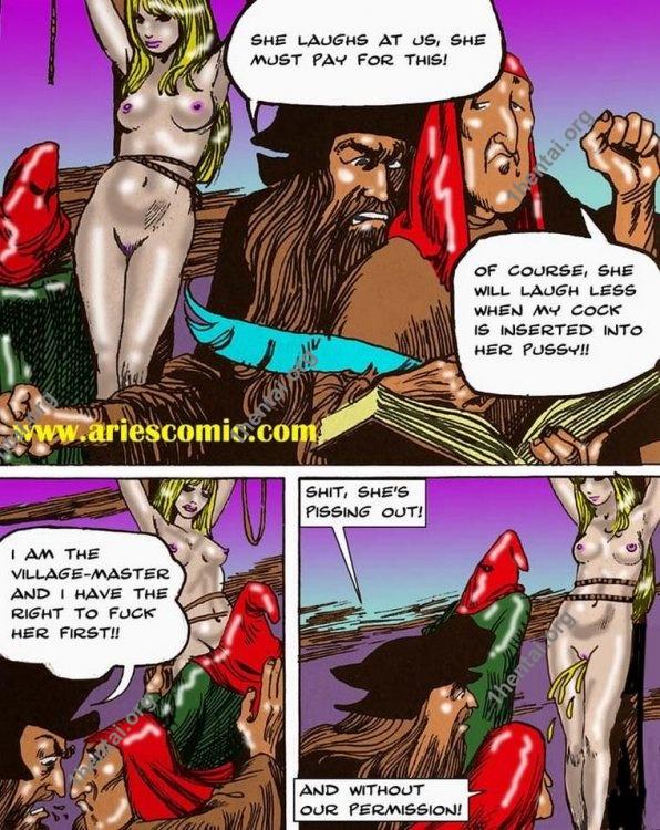 BrujaCondenada by Aries (En, BDSM comics free)