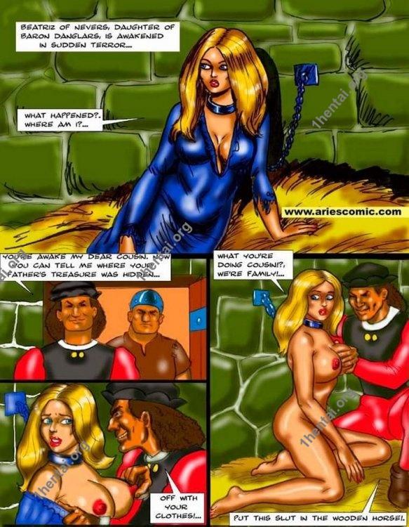 Hidden treasure by Aries (En, BDSM comics free)