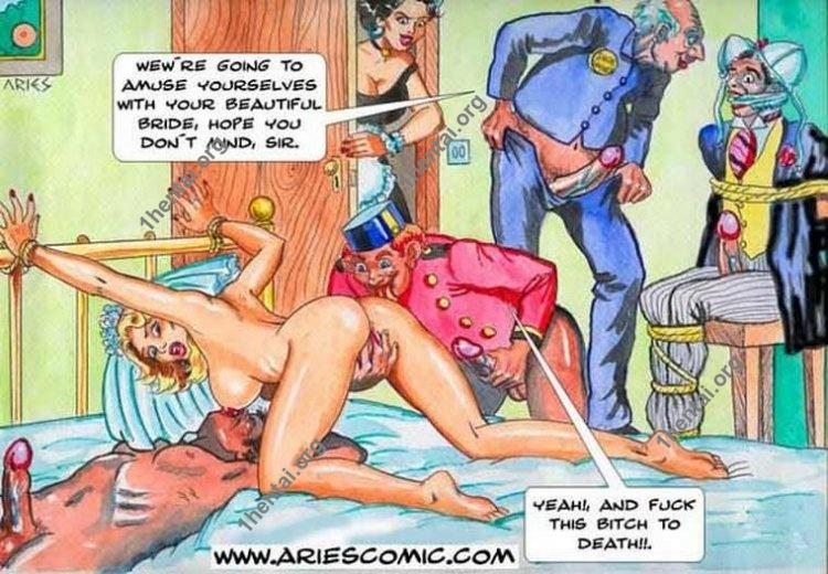Honeymoon by Aries (En, BDSM comics free)