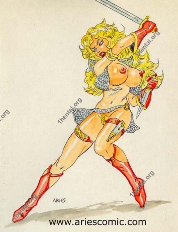 LESBIAN by Aries (En, BDSM comics free)