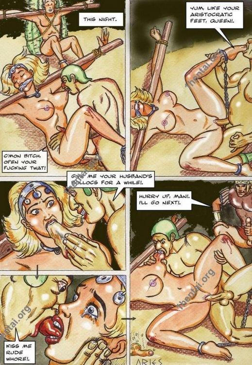 QUEEN by Aries (En, BDSM comics free)