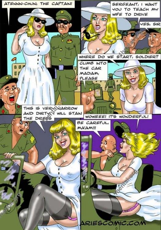 RoseDriving by Aries (En, BDSM comics free)