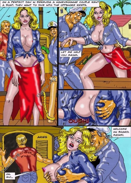 SCUBA DIVING by Aries (En, BDSM comics free)
