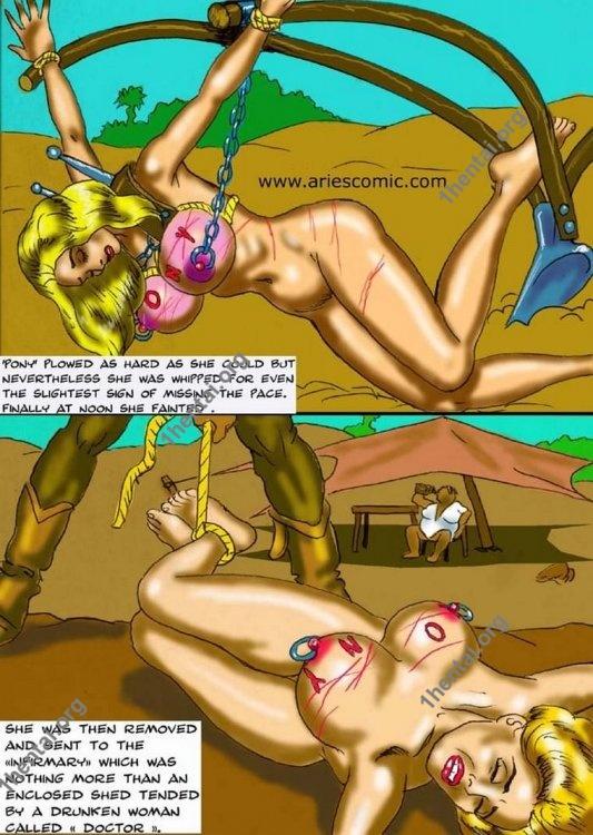 SLAVE PLANTATION by Aries (En, BDSM comics free)