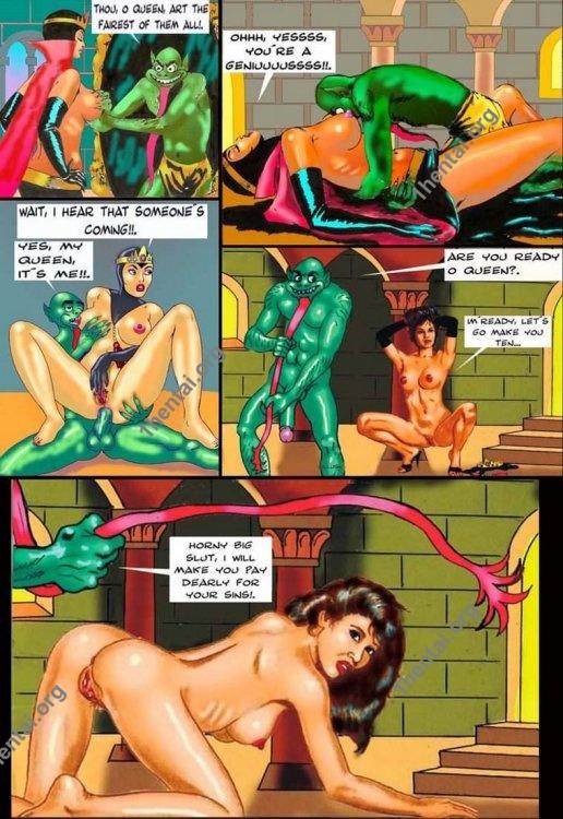 SNOWHITE by Aries (En, BDSM comics free)