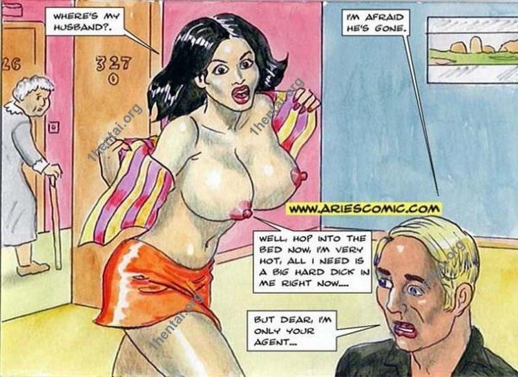 TOPLESS WAITRESS by Aries (En, BDSM comics free)