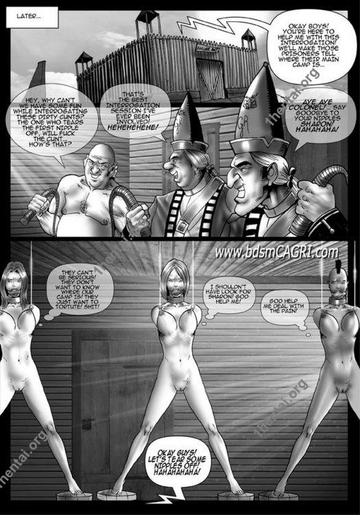 Captain Sharon comics by Cagri