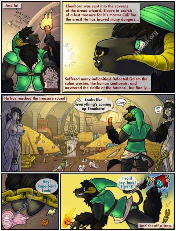 Shia - Ebonhorn a link to the ass (comics,  en)