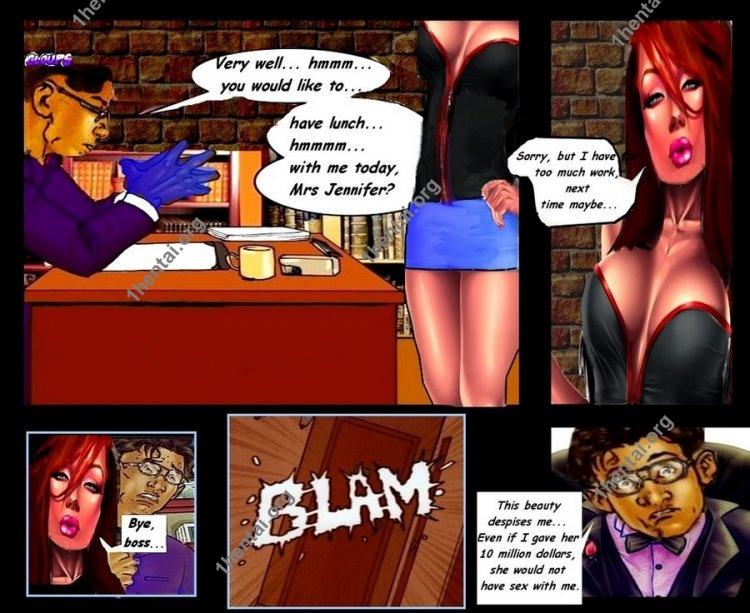Jennifer the Secretary (Interracial xxx comics, en)