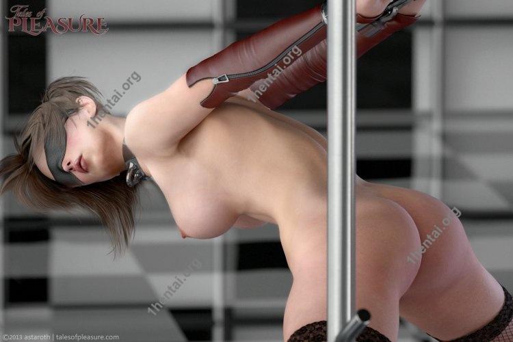 Tales Of Pleasure - Leatherand Steel Restraint Frame Workout