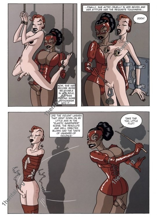 Domina In Red BDSM porn comix